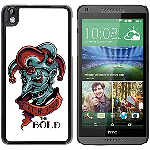 [ For HTC DESIRE 816 ][ Xtreme-Cover ][ Hart Rückseite Schutzhülle Case ] - Fortune Favors The Bold - Evil