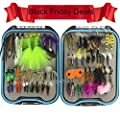 Assorted Fly Fishing Lures-62pcs/box Dry Flies Wet Fly Lure Set Fly Fishing Hooks with Butterfly Insects Fake Nymphs Floating Flies Hooks for Bass Salmon Trout Grayling Panfish Fishing Tackle from JSHANMEI