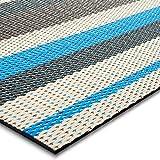 casa pura® Indoor- und Outdoor-Bodenbelag Ravenna | kunstvoll gewebt | als Teppich oder Läufer | 40 Größen (90x250cm)
