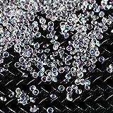 TAOtTAO 3000 Stücke 2 MM DIY Diamant Tisch Konfetti Klarem Kristall Veranstaltungen Party Zubehör (Weiß)