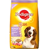 Pedigree Senior Dry Dog Food, Chicken & Rice, 3kg Pack