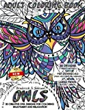 Owls Adult Coloring Book: 30 Creative Owl Designs For Coloring Enjoyment and Relaxation: Volume 1 (Creative Owls)