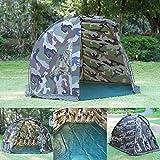 Magic3org Tenda per Pesca alla Carpa, Riparo da Giorno, Tenda da Giardino, Montaggio rapido, per 1-2 Persone, Mimetico