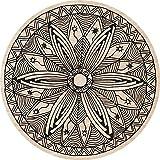 Cuadros Lifestyle 2D-Wandobjekt aus Holz   Mandala   Zeichen   Floral   Wandteller   Holzbild   Shabby-Look   Landhaus   Vintage   Holzobjekt   Deko   Holzdruck   Geschenk, Größe:ca. 40x40cm