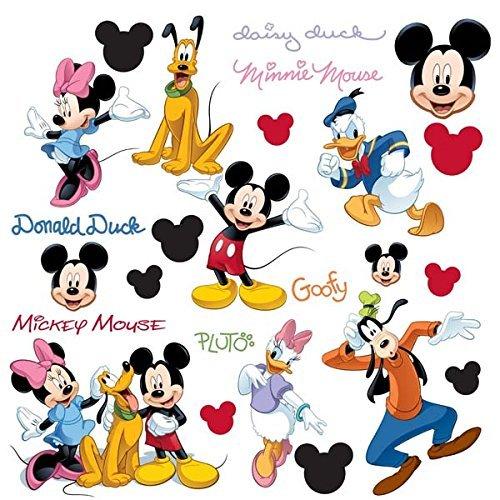 Mouse & Freunde - 30 grosse Wandsticker - Wandaufkleber - Tattoos - aus USA (Mickey Maus-freunde)