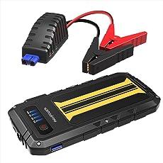 RAVPower 300A Spitzenstrom Auto Starthilfe Anlasser für 12V 2.0 L Benzinmotoren, Quick Charge Anschluss 8000mAh Powerbank, Eingebaute LED-Taschenlampe
