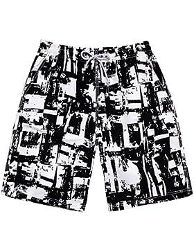 Pantalones cortos FEIFEI playa para hombre Unisex 3D Impreso bañador de natación de secado rápido con bolsillos...