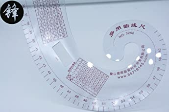 Lepakshi 3250 Multifunction Curve Ruler Ruler Tailoring Cutting Template Foot Costume Design Necklin