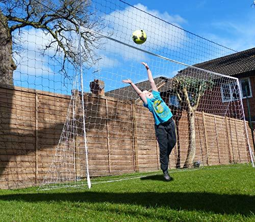 Open Goaaal! AS SEEN on DRAGONS DEN Rebounding Football Goal - Stops shots going over, rebounds them back! – Large Size