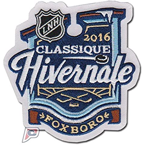 2016 NHL Winter Classic Game Logo Jersey French Patch Foxboro (Boston Bruins vs. Montreal Canadiens) by Patch Collection