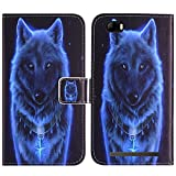 TienJueShi Loup TPU Silicone Stand Cuir Housse Coque Etui Cas Couverture Protecteur Case Cover Skin pour Konrow Just5 5 inch Gel Rubber