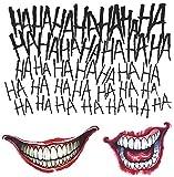 Suicide Squad Joker Costume Tattoo Kit Adult One Size