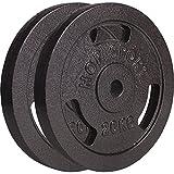 Hop-Sport Hantelscheiben 5kg 10kg 20kg 30kg 40kg Guss Gewichte Hantel Set Gewichtsscheiben 30mm (2 x 20 kg)