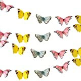 Talking Tables Truly Fairy Guirlande de Papillons à Suspendre, 2,5m, Multicolore