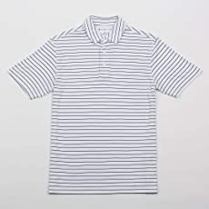 Oxford America Turner Classic Stripe Polo White/Navy, Medium