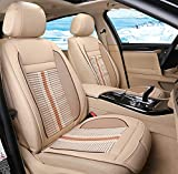 DIELIAN Sitzauflage Für Autositz, Schnelles Abkühlen, Angenehmes Dauerkühlen, Anschlussfertig Für 12-Volt Zigarettenanzünder,Beige