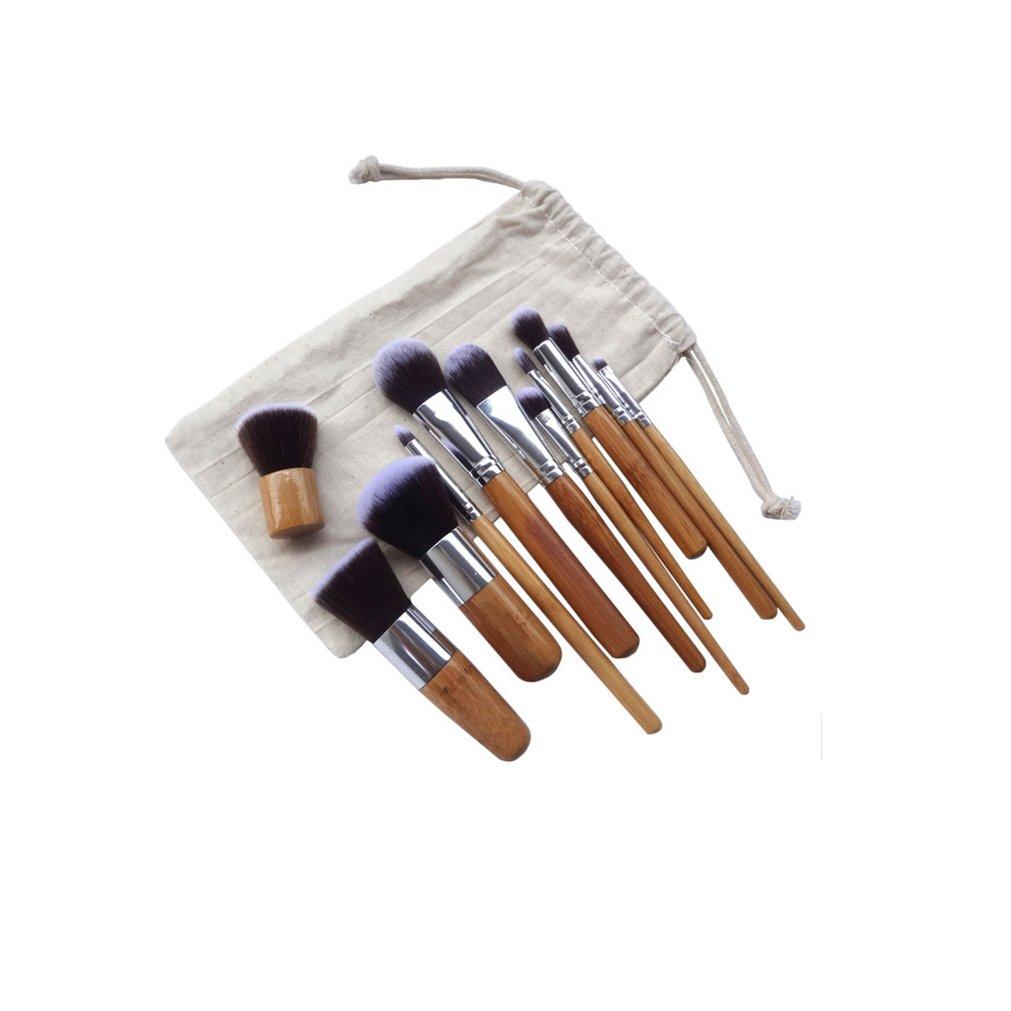 Gracelaza 11 Pcs brochas de maquillaje, 2 Esponja Fundación Puff + 15 Colores Corrector Camuflaje Paleta de Maquillaje Cosmética Crema