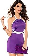 Luxemburg Women's Poly Cotton Babydoll Dress (M2818, Purple, Free Size)