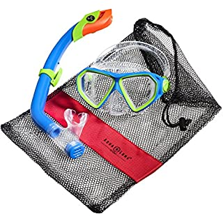 Aqua Lung Sport La Costa Junior Pro Dive Kinder 2er Set (Tauchmaske & Schnorchel) inkl. Beutel - Green