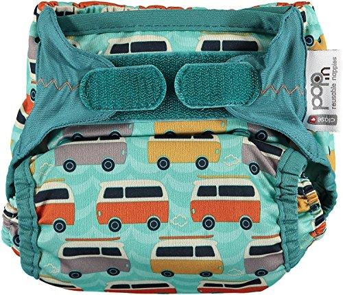 Close Parent Pop In - Pañal de tela con diseño caravana verde, talla
