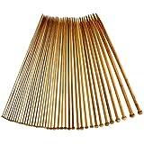 Stricknadeln aus Bambus/Holz verschiedene Stärke 2-12mm 40cm lang 20 Paar