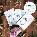 Petit Pino - Der kleine Pinguin - Aquarell - Baby - Geburtsgeschenk - handgemalte Postkarte