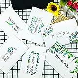 Thank You Karten mit Umschlag grün Blätter gedruckt Grußkarten für Hochzeit Baby Dusche Business Jahrestag 48Stück