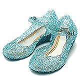 L-Peach Filles Princesse Chaussures Pour Halloween Fête Anniversaire Noël Bleu Longueur 17,5cm/EU28
