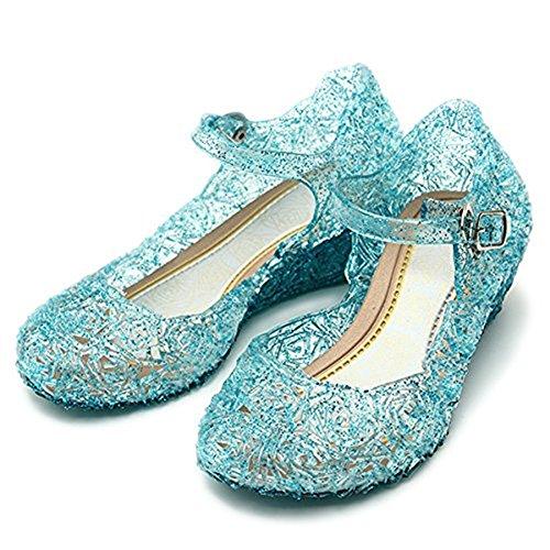 L-Peach Mädchen Fantasie Prinzessin Schuhe Kristall Schuhe für Bankett Tanzschuhe Cosplay Blau - Prinzessin Peach-18