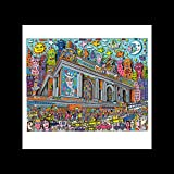 James Rizzi – A Grand Central Station Mini Poster – 40 x 40 cm
