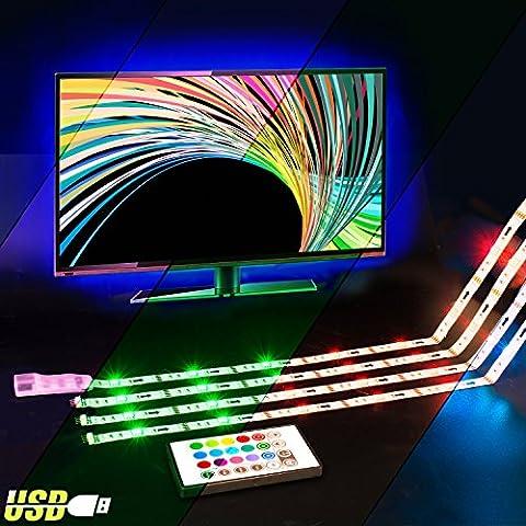 TV Hintergrundbeleuchtung,2M RGB USB Led Strip Hintergrundbeleuchtung Fernseher mit Fernbedienung für HDTV, ViLSOM Led Beleuchtung.