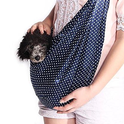 Xcellent Global Denim Sling Carrier Bag for Puppy Pet 21x13x6.7 inch Shoulder Carry Handbag PT017 5