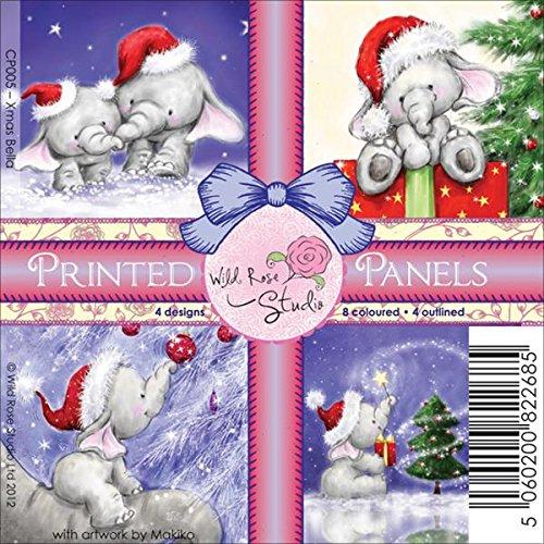 Preisvergleich Produktbild Wild Rose Studio Stoff 4-Zoll-X 4-Zoll bedruckter Einsätze 12/sheets-bella 's Christmas