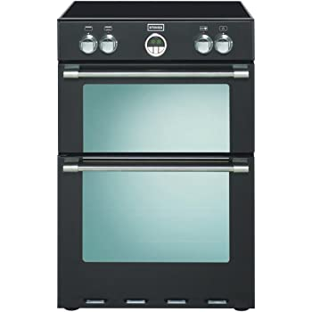 Zanussi Zci68300ba Black 60cm Double Oven Electric Cooker