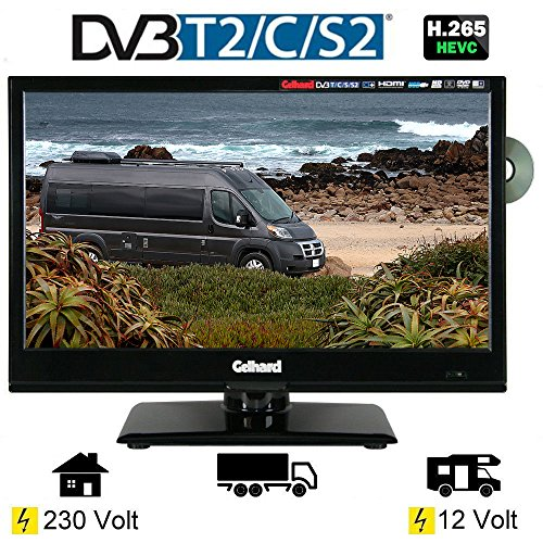 Gelhard GTV-1662 LED DVD 15,6 Zoll 40cm Fernseher Full-HD, DVB-S / S2 -T / T2 12/230 Volt