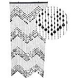 HAB & GUT DV0323 Türvorhang Form: KLUNKER, Farbe: SCHWARZ, Material: Kunststoff, Größe: 90 x 200 cm
