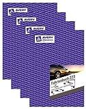 4er Sparpack Avery Zweckform 223 Fahrtenbuch, DIN A5 hoch, steuerlicher km-Nachweis, 40 Blatt, weiß