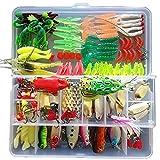gossipboy 132PCS/1SET Multifunktions Angeln Lure Kits gemischt Universal sortiert Angelköder...