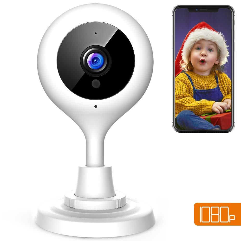 APEMAN 1080P Cámara IP WiFi, Cámara de Vigilancia con Visión Nocturna, Audio de 2 Vías, Detector de Movimiento Pan/Tilt, Grabador de Vídeo y Audio, P2P/2.4GHz