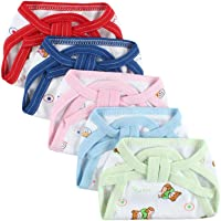 Washable Reusable Multicolour Hosiery Cotton Diapers,Nappy,Langot for New Born Baby (0-6 Months, Pack of 5 )