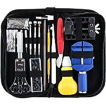 Zacro 147 Strumenti Kit di Riparazione Orologi Professionale, Pinzette Perni Case Custodia Set Accessori per Orologio Orologiaio
