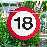 Folat Creative Gartenschild für Geburtstagsparty, Verkehrsschild, 18. Geburt