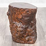 Hocker Beistelltisch LONGAN Red Longan-Holz Massivholz Hotzklotz Baumstamm