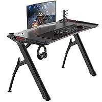 sogesfurniture Bureau Gaming Table de Jeu PC Bureau pour Ordinateur de Jeu, Bureau Gamers avec Porte-gobelet, Crochet…