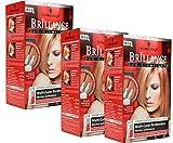 3x Schwarzkopf BRILLIANCE G70 Kupferrot & Bronzebraun Multicolor Strähnchen Haarfarbe