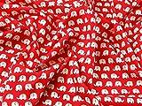 Elefanten Print Baumwolle Popeline Kleid Stoff Meterware