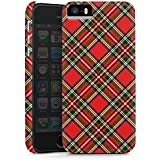 Apple iPhone 5S Case Hülle Cover Schutzhülle DesignCase matt black - Classic Scottish Tartan