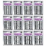 12 Packungen Nailsticker HBJY Set 3 Borten Streifen schwarz selbstklebend -...