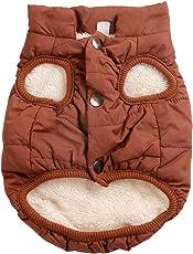JoyDaog 2-lagige mit Fleece gefütterte Hundejacke, sehr warm für Winter und kaltes Wetter, extraweiche, winddichte Hundeweste, rot