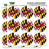 Maryland State Flag 2 Scrapbooking Crafting Stickers by Graphics and More